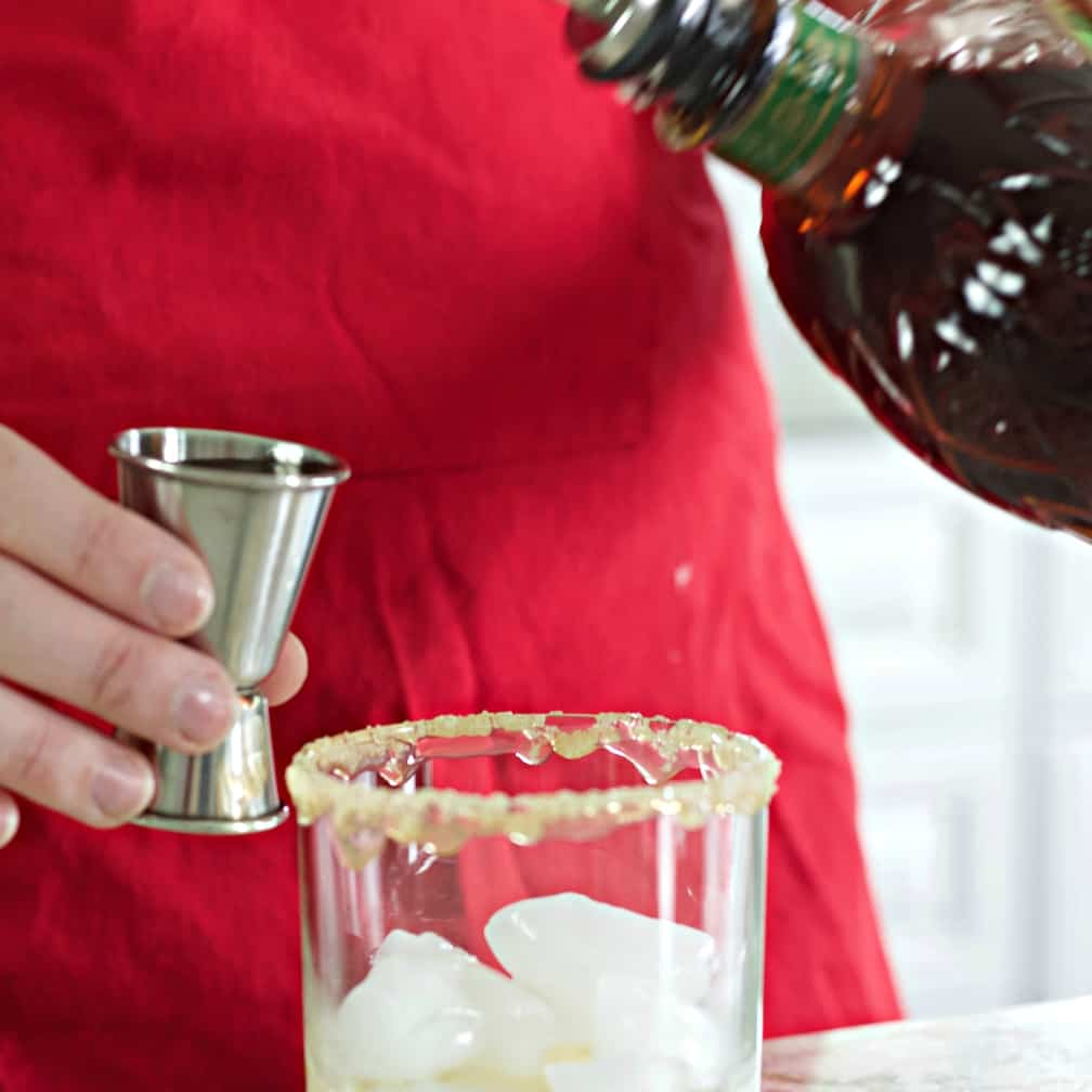Measure And Pour The Apple Crown Whiskey