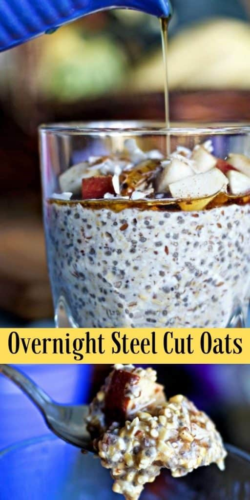 Overnight Steel Cut Oats Recipe-Pin Image