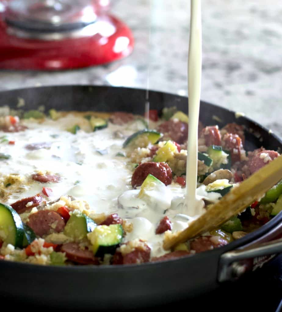 Add The Cream And Broth Louisiana Shrimp Dinner