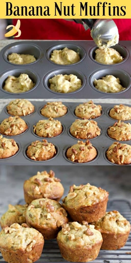 Pin Image: Banana Nut Muffins
