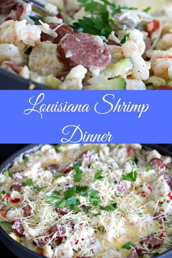 Louisiana Shrimp Dinner Pin image