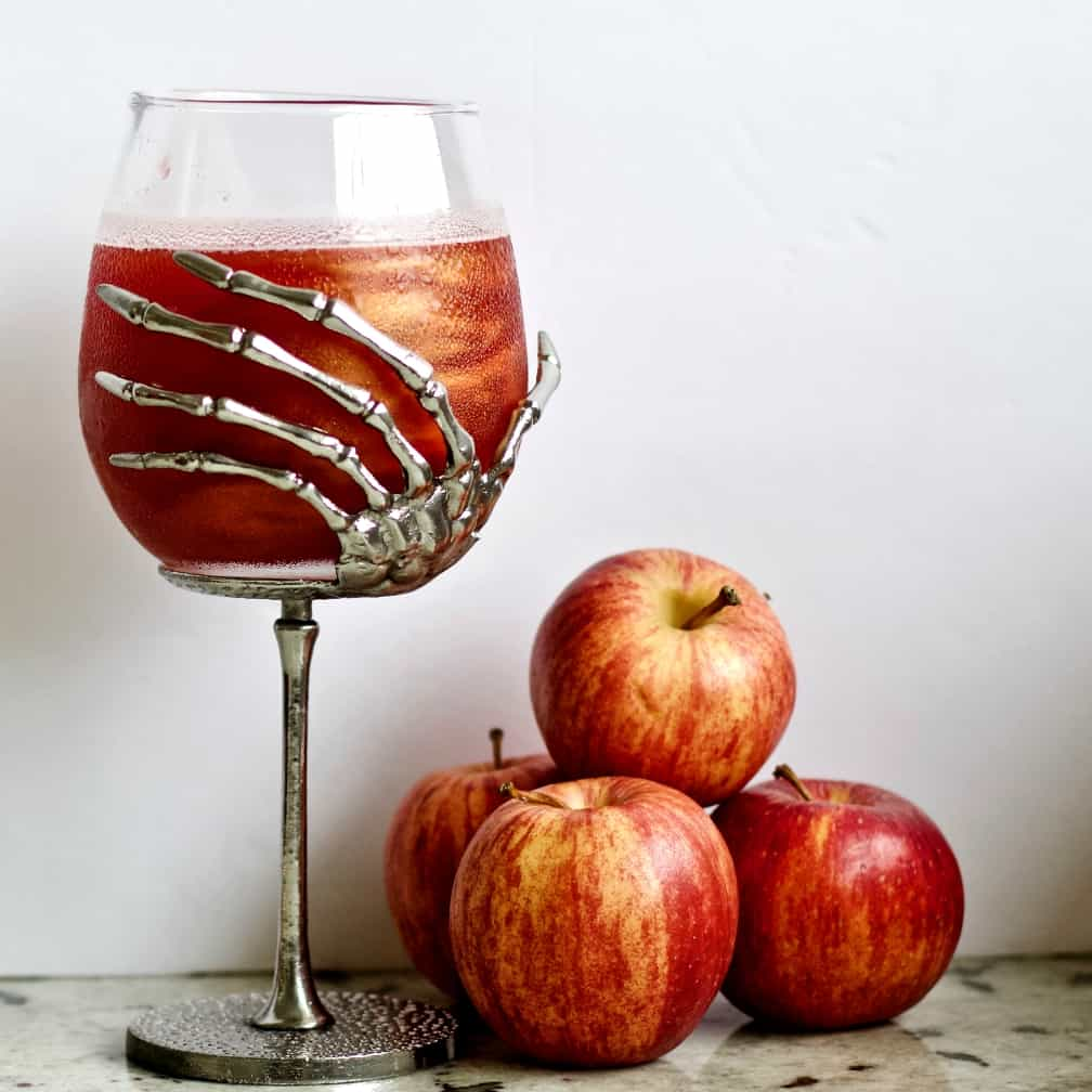 Poison apple cocktail with apples