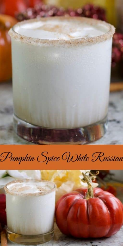 White Russian with pumpkin spice pin image