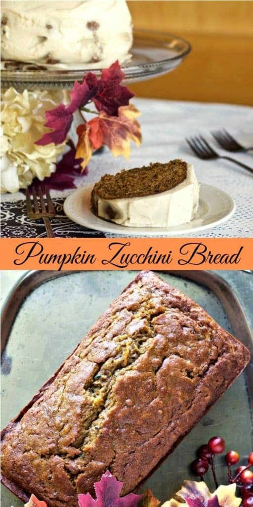 Pumpkin zucchini Bread Pin Image