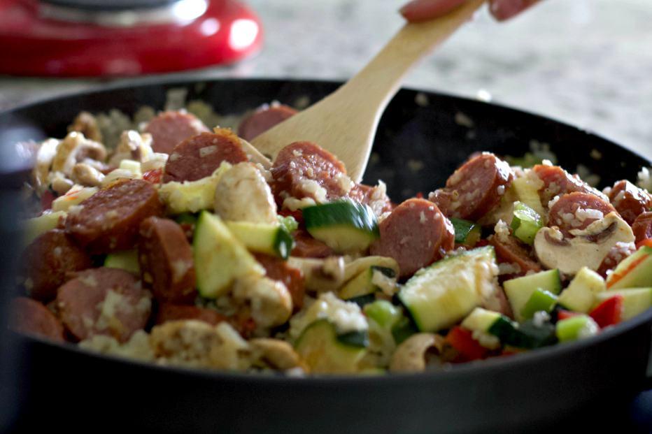 Stir In The Vegetables Louisiana Shrimp Dinner