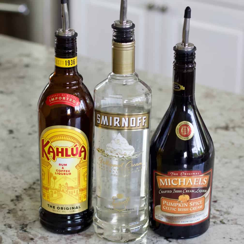 The alcohol for pumpkin spice white russian