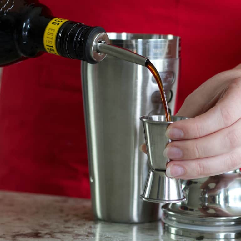 Measure and pour in the kahlua