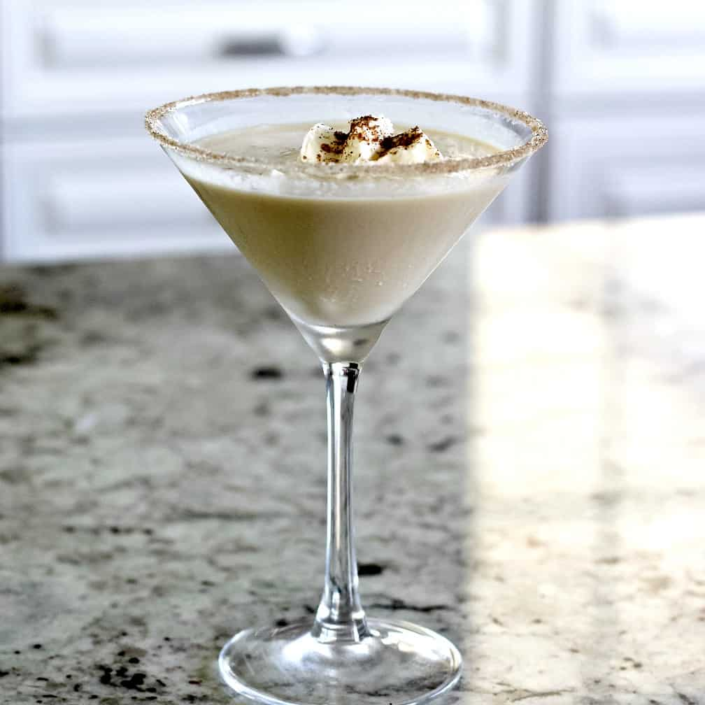 Pumpkin Spice Martini with garnish