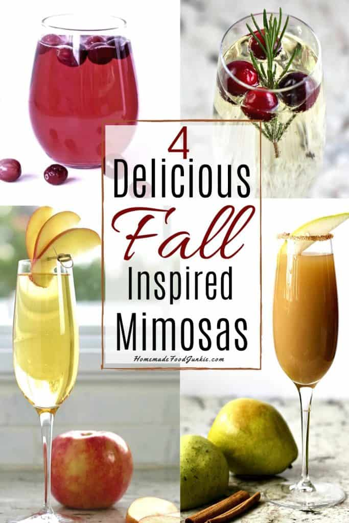 Four Fall Inspired Mimosas-Pin Image