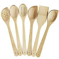 Healthy Cooking Utensils Set - 6 Wooden Spoons For Cooking &Ndash; Natural Nonstick Hard Wood Spatula And Spoons &Ndash; Uncoated And Unglued &Ndash; Durable Eco-Friendly And Safe Kitchen Cooking Tools.