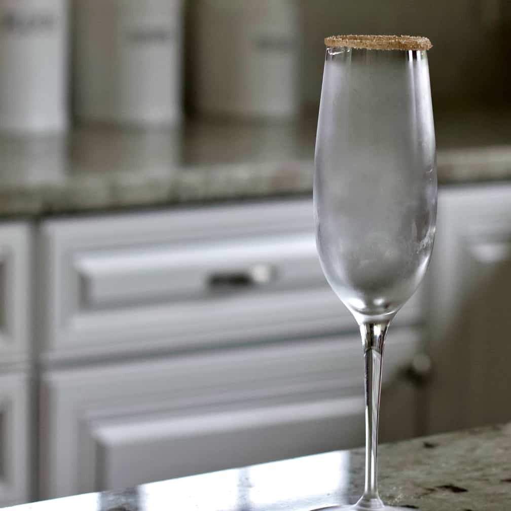 Chilled And Rimmed Champagne Glass