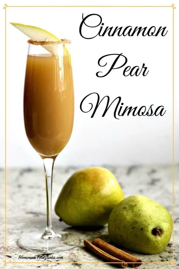 Cinnamon Pear Mimosa 1