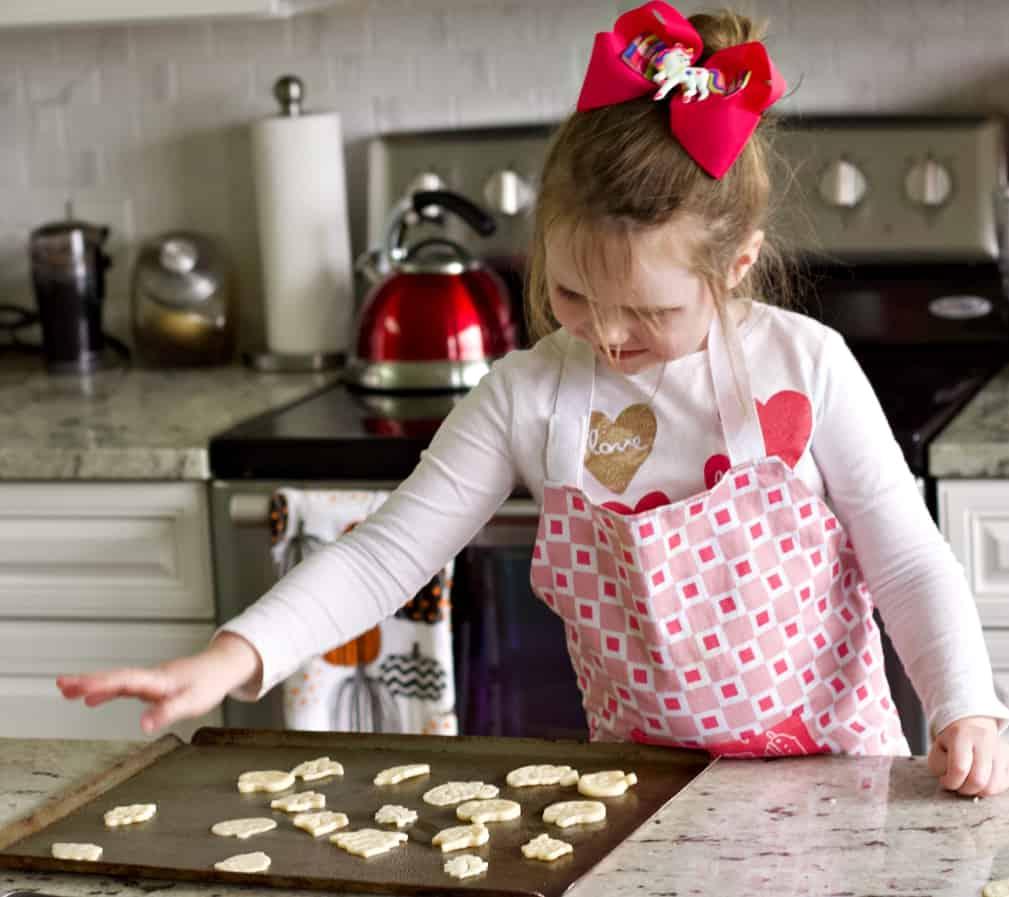 Pie Dough Cut Outs On Baking Sheet
