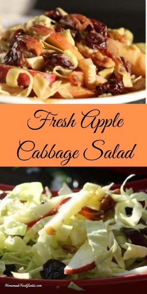 Fresh apple cabbage salad recipe-PIN IMAGE
