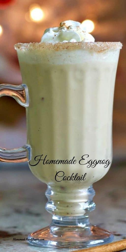 eggnog cocktail pin image
