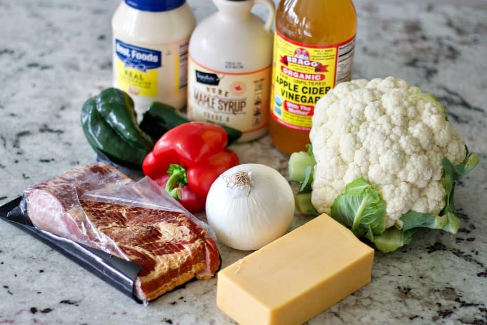 Ingredients for cauliflower salad recipe