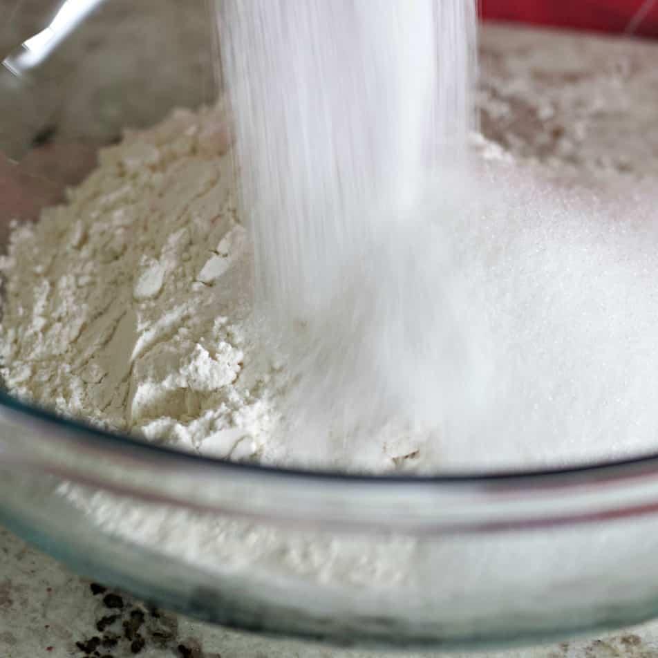 Pour Sugar Over Flours