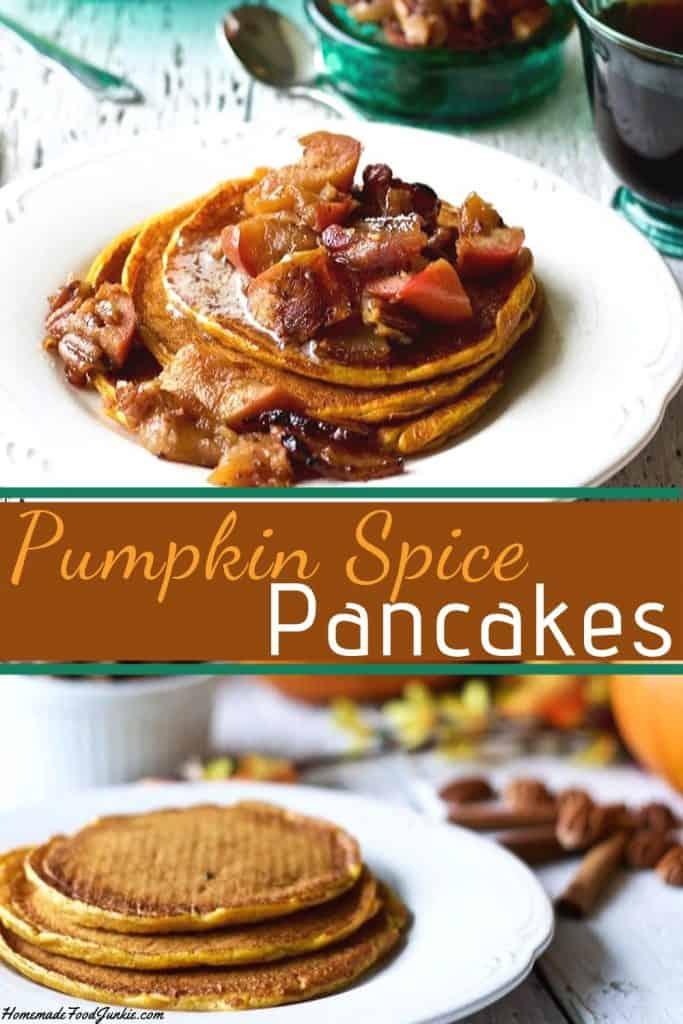 Pumpkin Spice Pancakes Pin Image