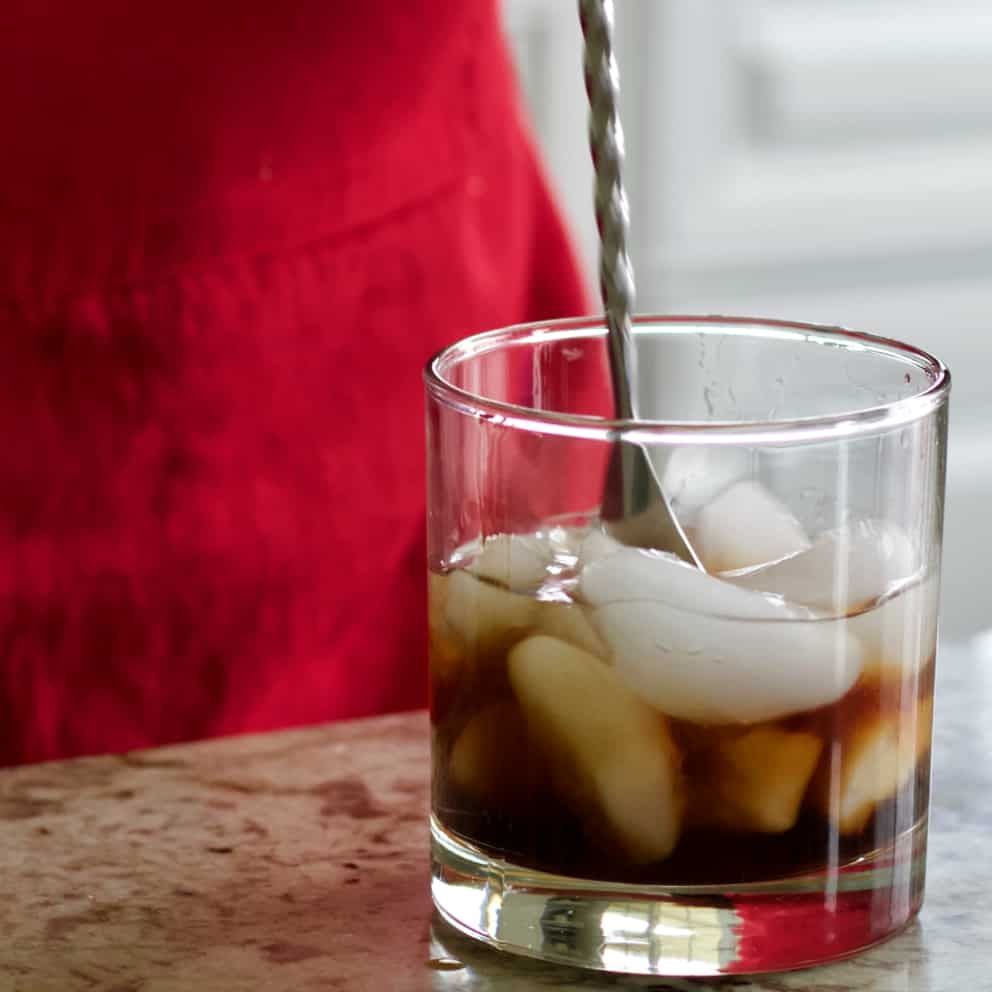 Stirring Black Russian