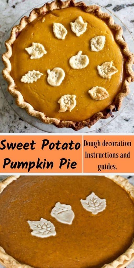 Sweet Potato Pumpkin Pie- PIN IMAGE