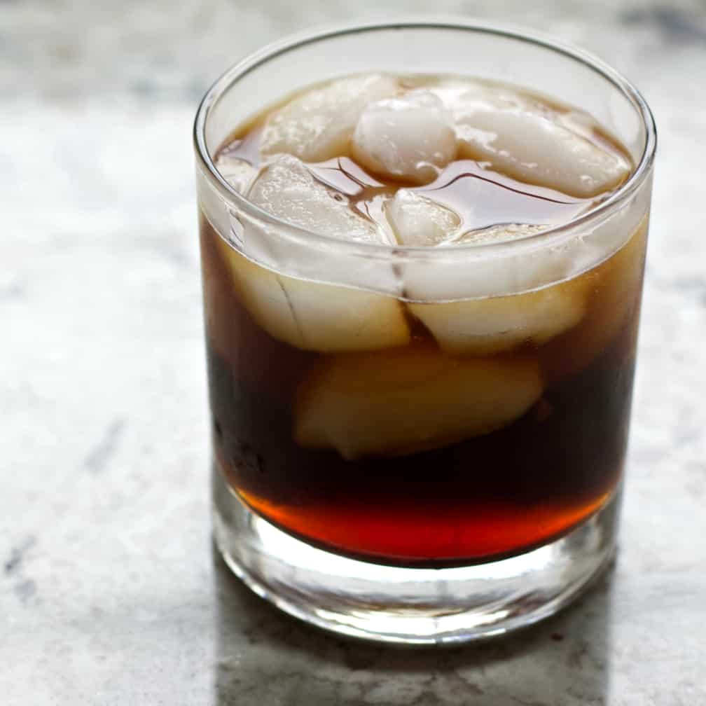 Twisted Black Russian-top view
