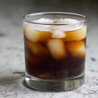 Twisted black Russian with Cold Brew and vanilla vodka