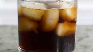 Black Russian Cocktail with Vanilla Vodka And Cold Brew