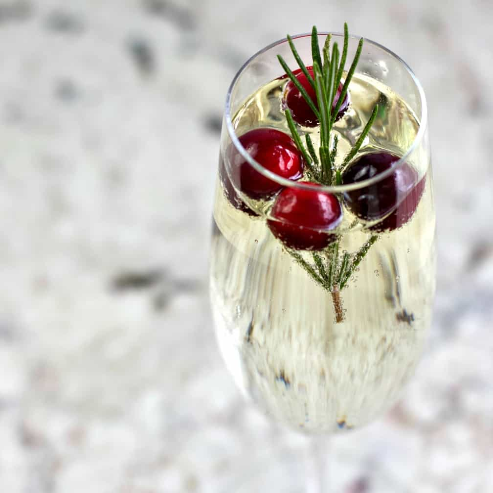 White Cranberry Rosemary Mimosa Recipe