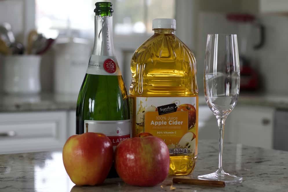 apple cider mimosa ingredients