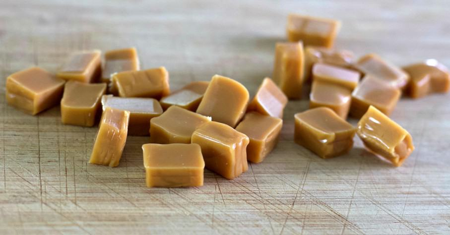chopped caramels
