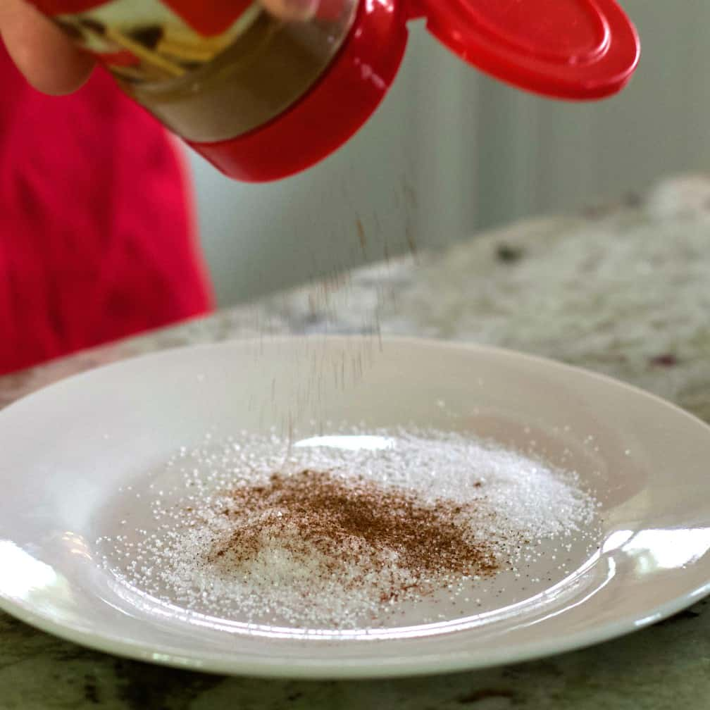 Mix Sugar And Cinnamon On A Plate