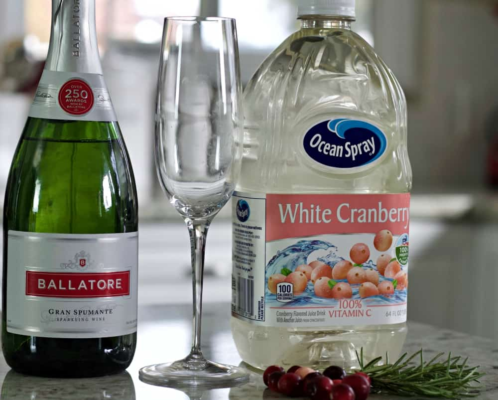 white cranberry mimosa ingredients