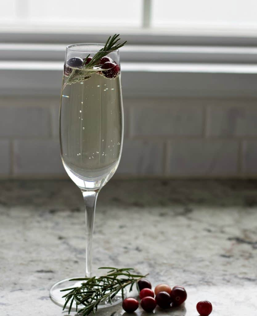 white cranberry mimosa