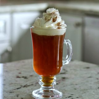 amaretto coffee drink with whipped cream.
