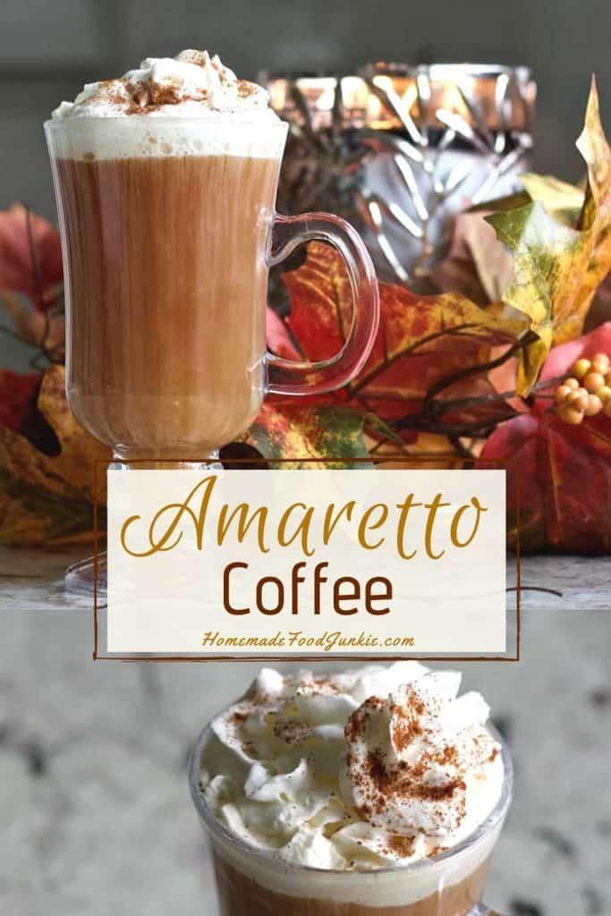 Cafe Amaretto Alcoholic Coffee Drink