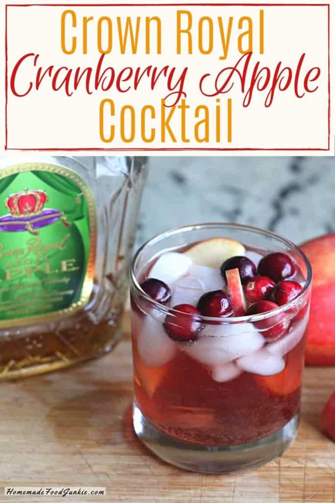 Crown Royal Cranberry Apple cocktail-pin image