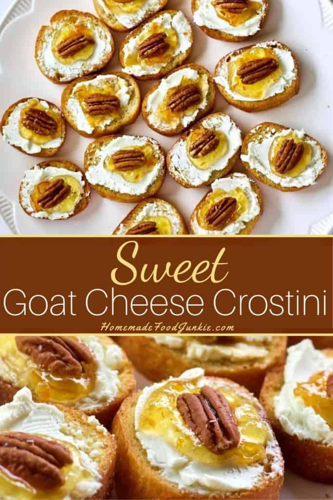 Goat Cheese Crostini-pin image