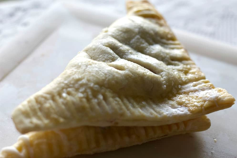 Homemade Puff pastry as turnovers.