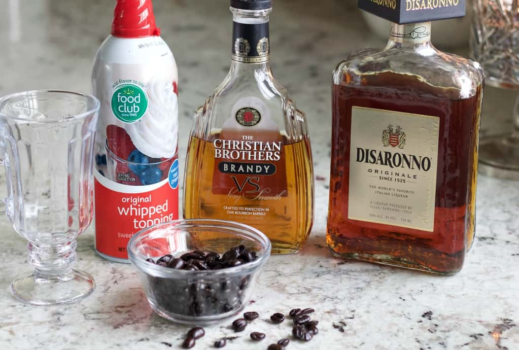 Ingredients For Cafe Amaretto Alcoholic Coffee Drink