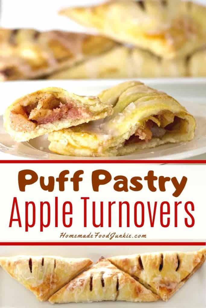 Puff Pastry Apple Turnovers-Pin Image