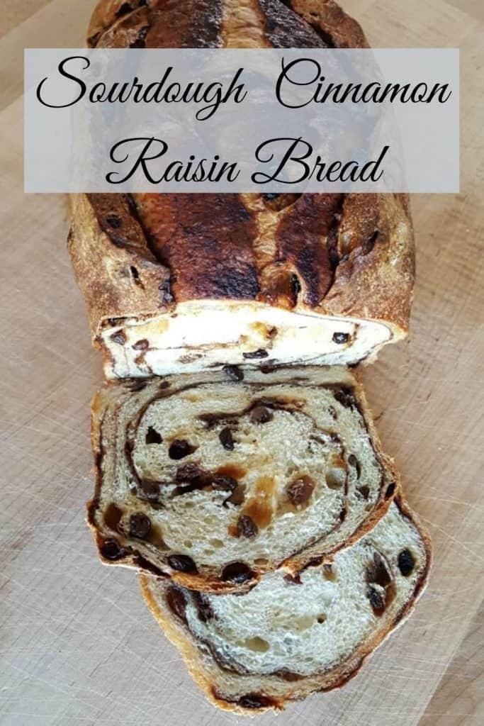 Sourdough Cinnamon Raisin Bread-PIN IMAGE