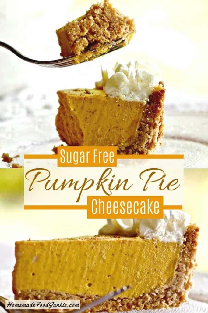 Sugar Free Pumpkin Pie Cheesecake