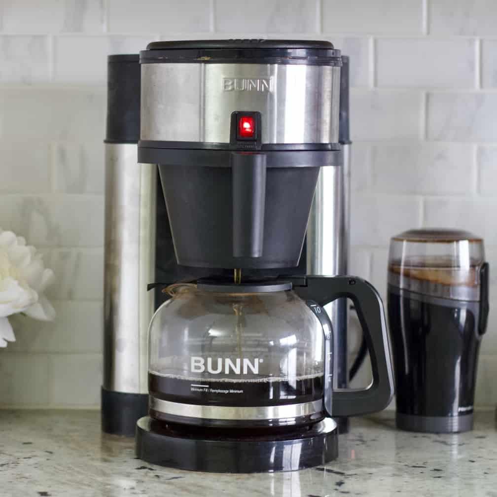 coffee maker brewing fresh coffee