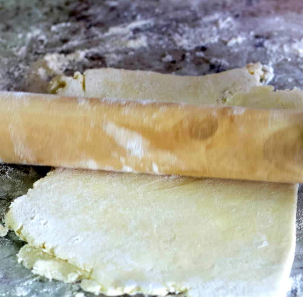 rolling out puff pastry-second fold