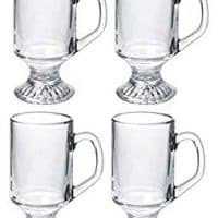 Luminarc 9.75-ounce Irish Coffee Footed Mug, Clear, Set of 4