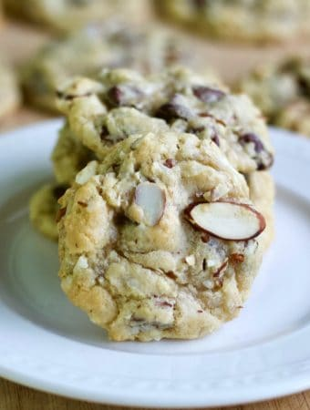 Almond Joy cookies plated