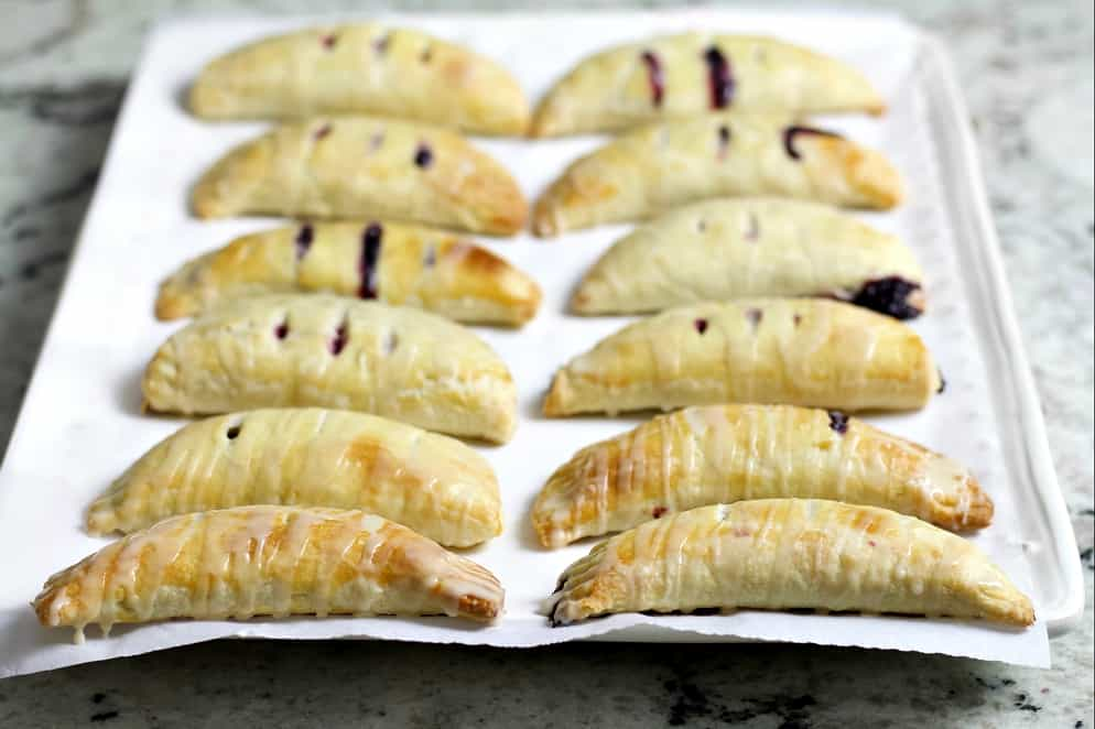 sourdough hand pies with blackberry filling