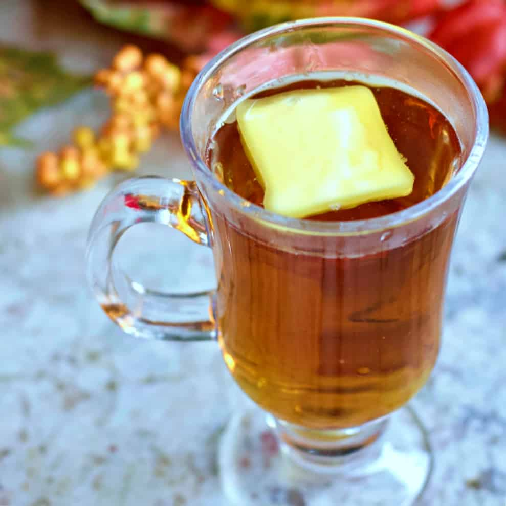 butter on a hot buttered rum