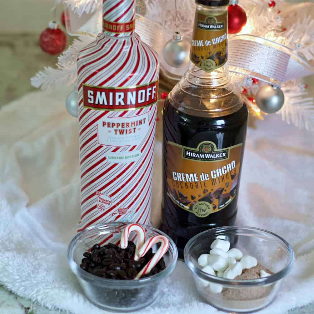 Ingredients for The Peppermint Hot Chocolate