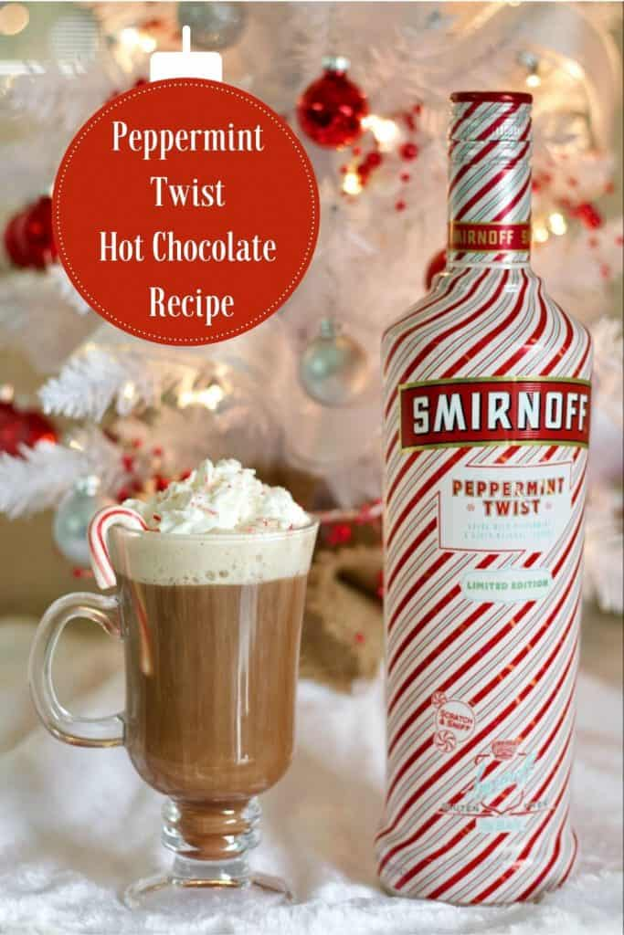 The Peppermint hot chocolate stinger recipe -pin image